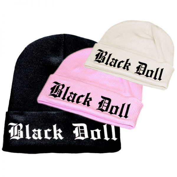 Black Doll Beanie Hat