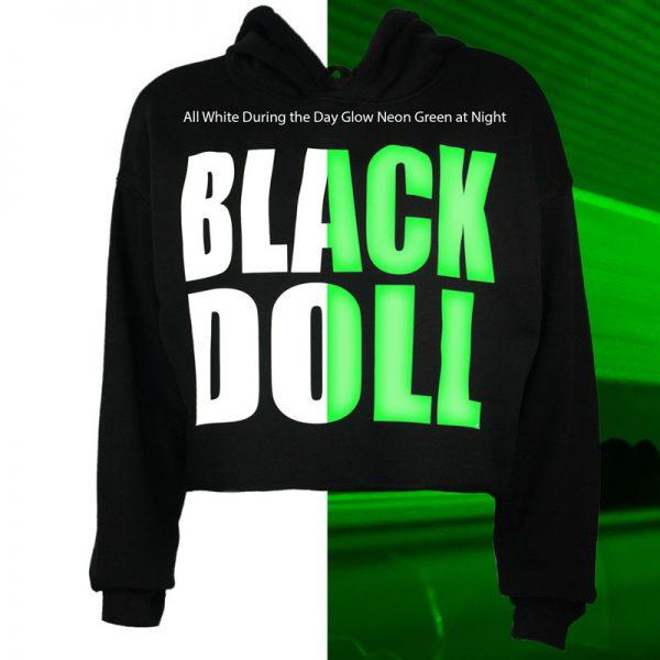 Night Glow crop top hoodie shirt